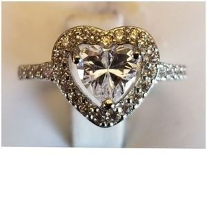 2.92ct White Sapphire Ring Size 5